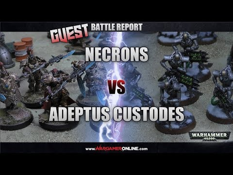 Games Workshop Battle Report Necrons Vs Adeptus Custodes Warhammer 40k