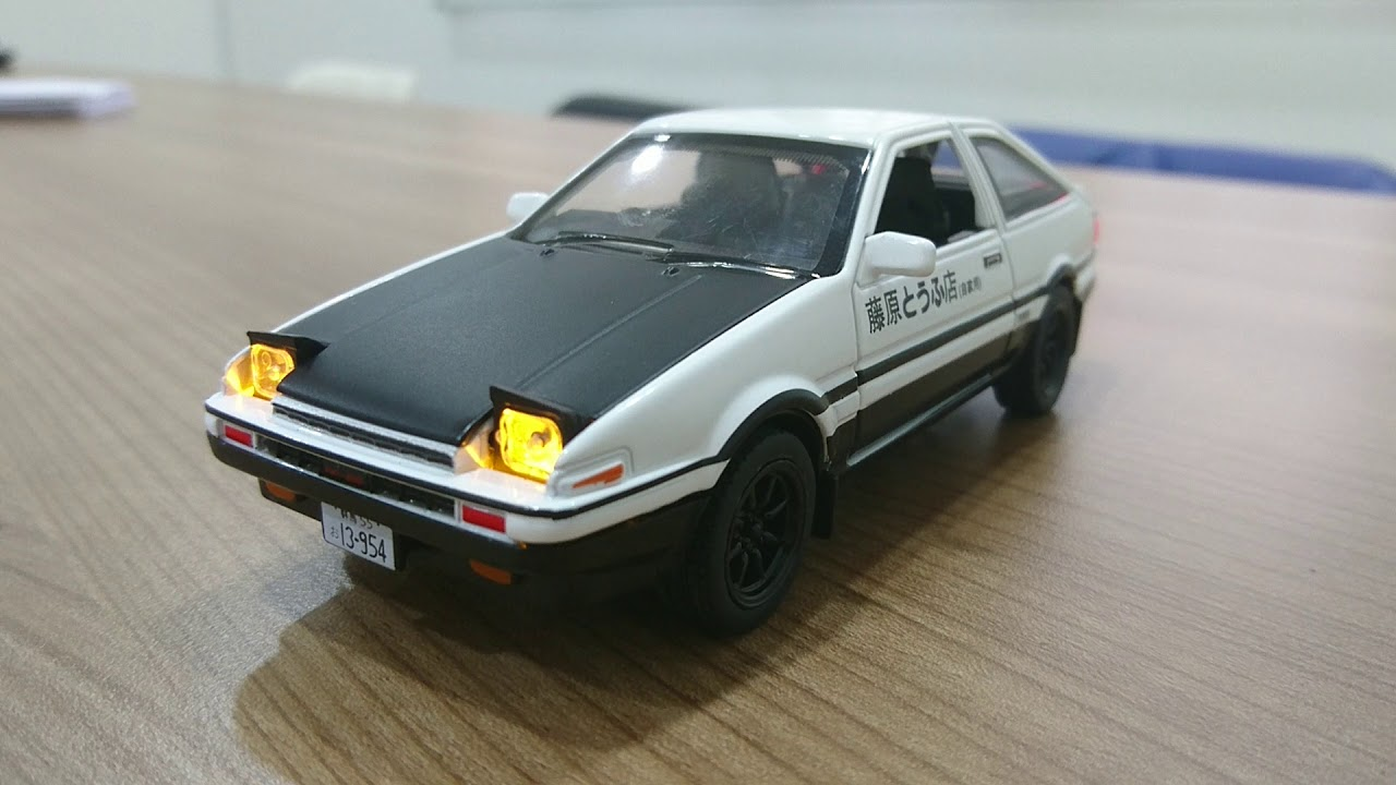 1 28 toyota ae86 initial d takumi model car youtube. Black Bedroom Furniture Sets. Home Design Ideas