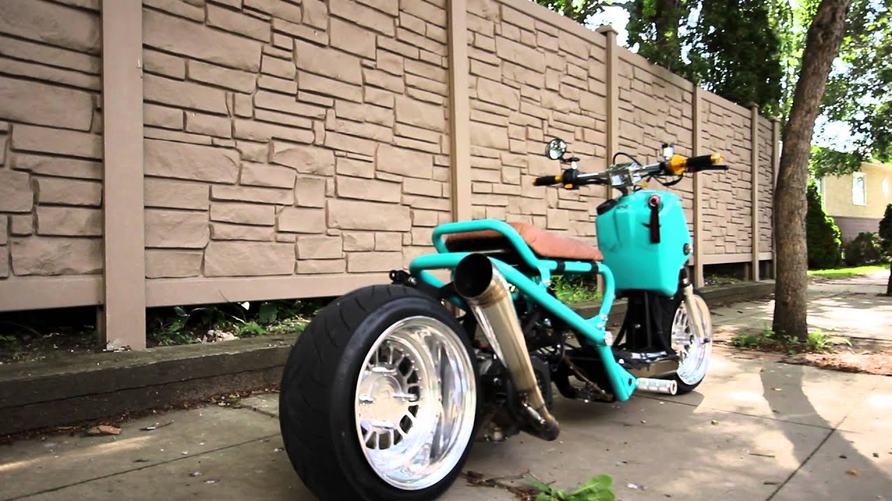 Teal GY6 Honda Ruckus - YouTube