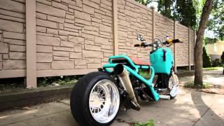 Teal GY6 Honda Ruckus