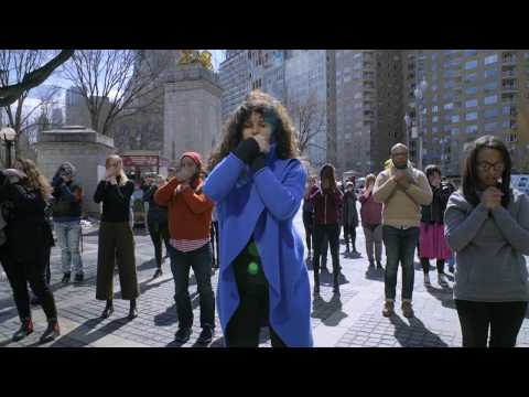 """""""The OA Flashmob"""" Five Movements In Front Of Trump International Hotel NYC"""
