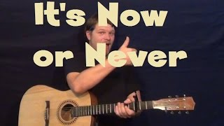 It's Now Or Never (Elvis) Easy Strum Guitar Lesson How to Play Tutorial