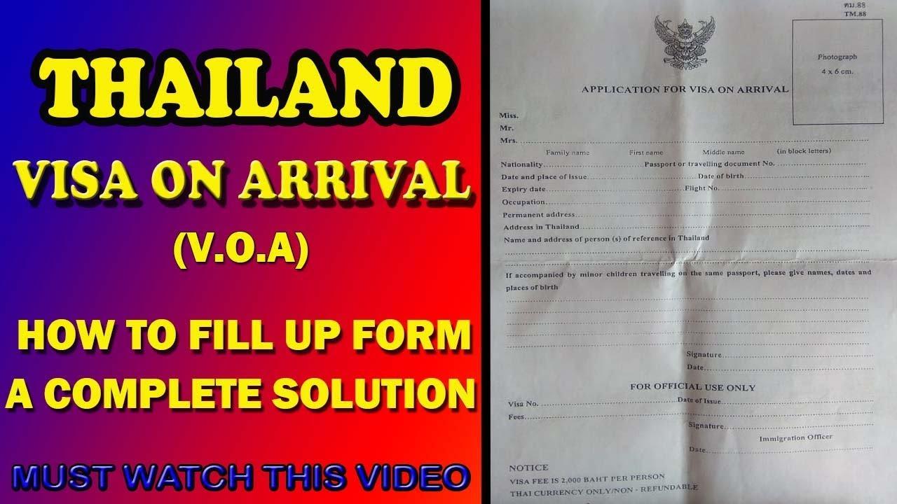 on online thailand visa application form desh