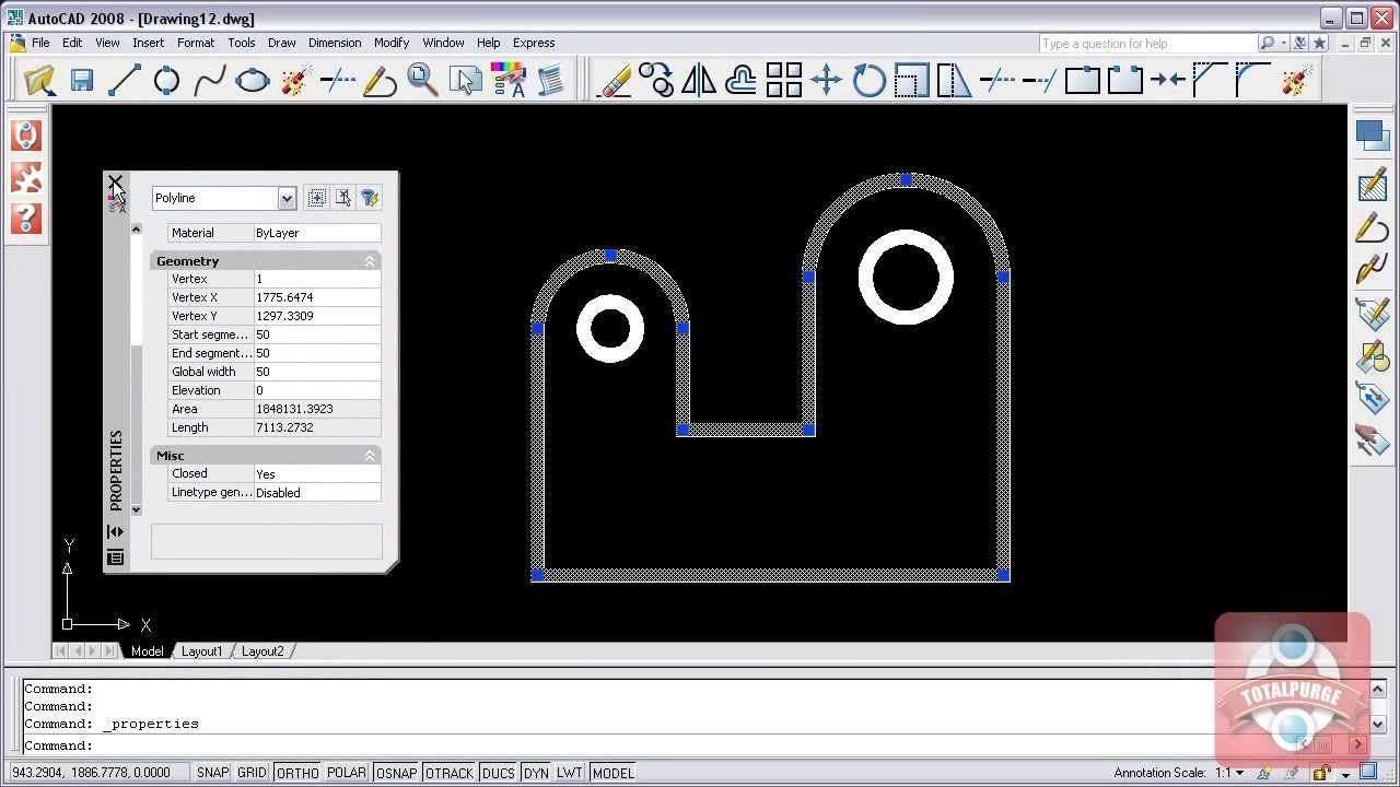 how to make contour in autocad