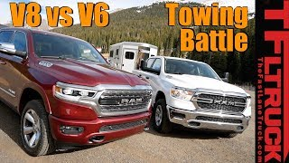 2019 Ram 1500 V6 vs V8 eTorque take on The World's Toughest Towing Test (Ike Gauntlet 2019)
