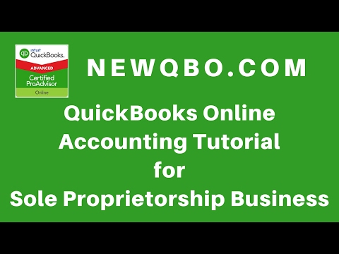 QuickBooks Online Accounting for Sole Proprietorship Business (QBO Tutorial For Beginners)