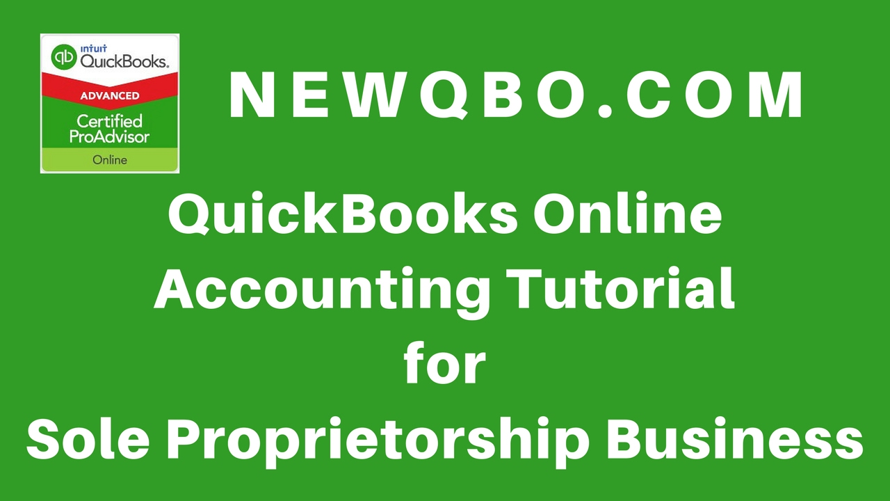 QuickBooks Online Accounting for Sole Proprietorship