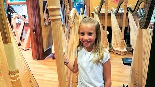 Abby Gets a PEDAL HARP!!!