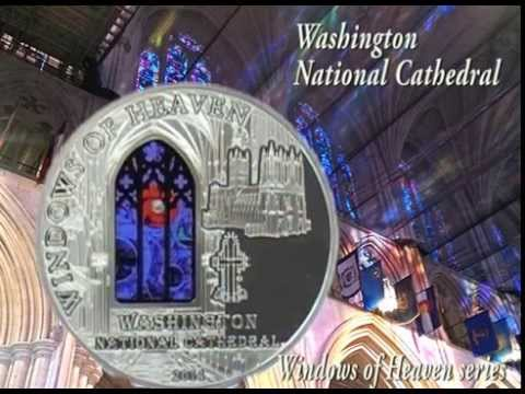 $10 Silver coin - Washington National Cathedral - Windows of Heaven series - Cook Islands 2014
