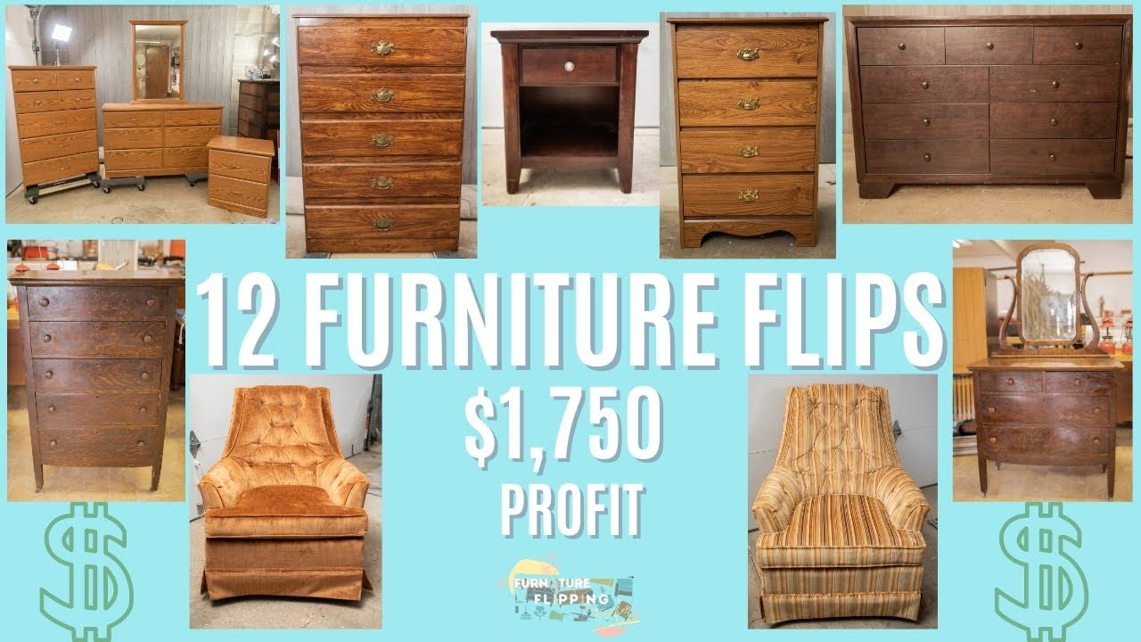 Furniture Flipping in 2021 | $1,750 in 1 Month | Side Hustle for Anyone | 12 Furniture Makeovers |