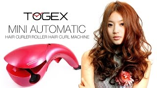 Mini automatic hair curler hair Styling Tools Roller TOGEX Hair Curls Curling Machine tutorial