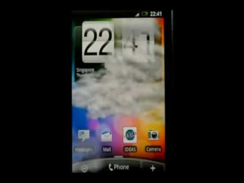 HTC Sense - Animated weather wallpaper - YouTube
