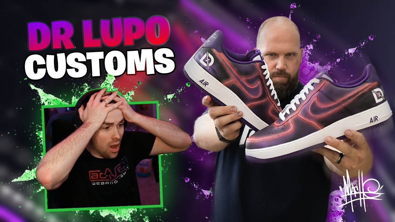 Creating custom AF1s with DrLupo for charity!