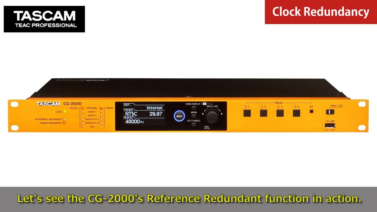 Tascam CG-1000/CG-1800/CG-2000 | Master Clock Generators