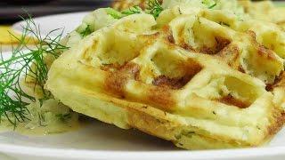 Картофельные вафли с курицей в электровафельнице GF-020 Waffle Pro