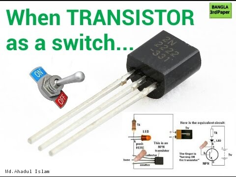 switching transistor how to transistors works like a switch youtube