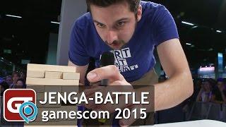 Thumbnail für GameTube goes gamescom 2015 - Jenga-Battle