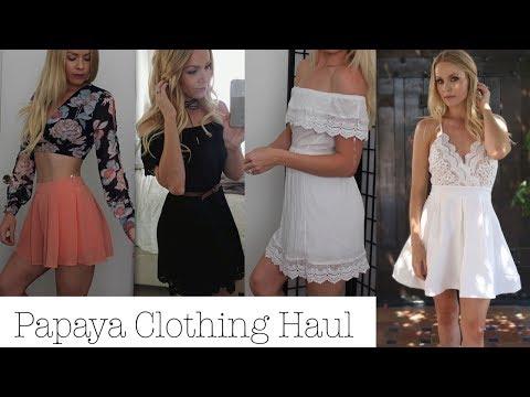 Papaya  Clothing Haul & Try On