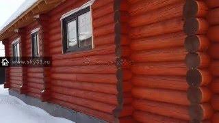 дом, баня, гараж и беседка из оцилиндрованного бревна(Видео по проектам