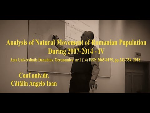Analysis of Natural Movement of Romanian Population During 2007 2014   IV
