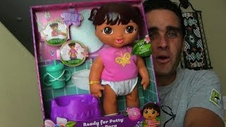 Ready for Potty Baby Dora Toy Review! || Dora The Explorer Toys || Konas2002