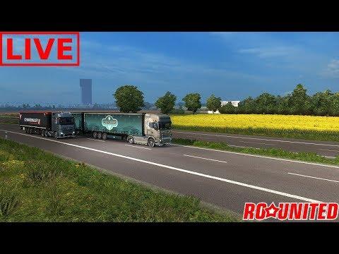 Convoi vazut din fata    RO UNITED    ETS 2 Romania