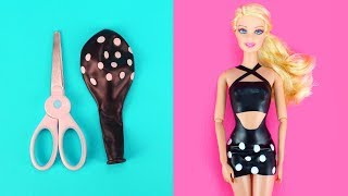 👗 DIY Barbie Dresses with Balloons Part 2 Making Easy No Sew Clothes for Barbies Creative for Kids