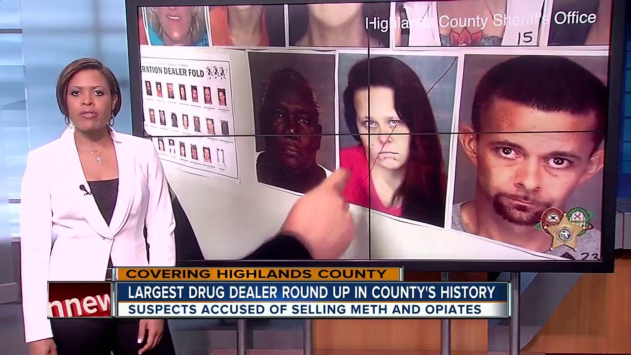 Highlands County Sheriff's Office makes largest dealer round-up arrest in  county's history