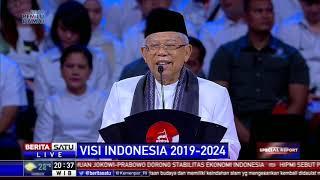 Pidato Ma'ruf Amin untuk Visi Indonesia 5 Tahun ke Depan