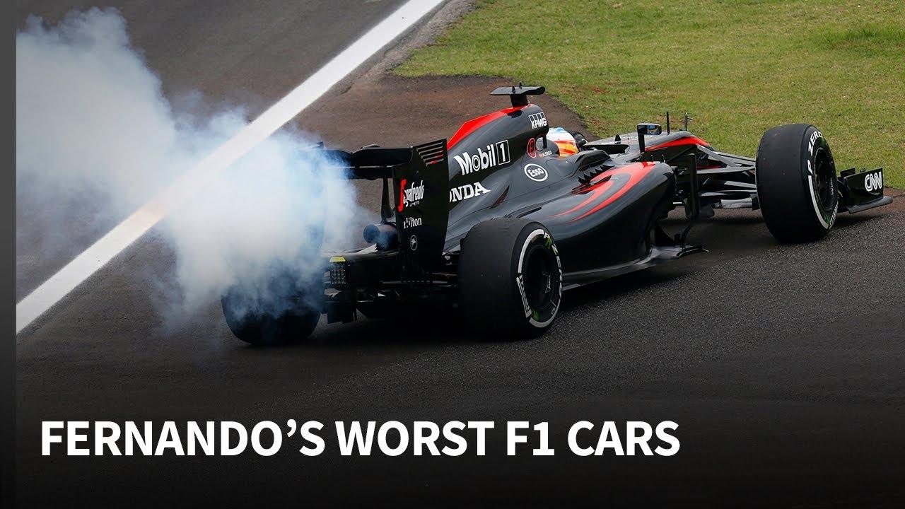 Fernando Alonso's worst Formula 1 cars