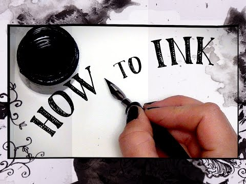 HOW to INK! Supplies & Techniques - HTA #9