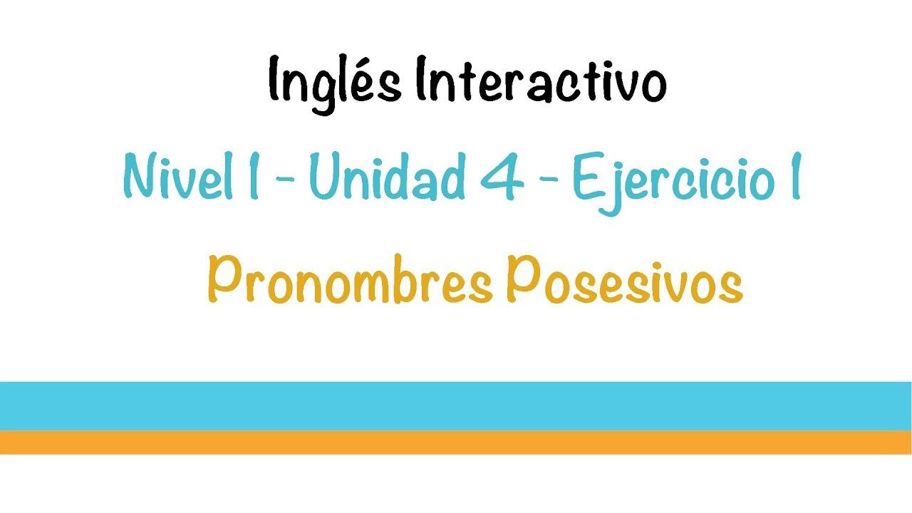Aprender Ingles - Ejercicio (Adjetivos Posesivos) - YouTube