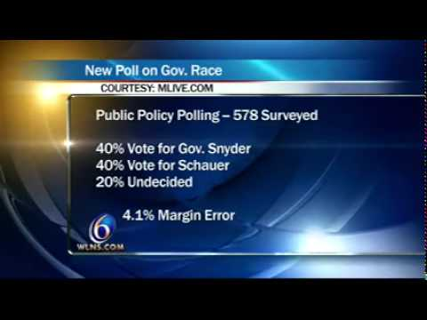 WLNS PPP Poll Schauer and Snyder Tied
