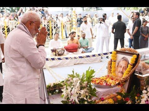PM Shri Narendra Modi pays tributes to Goa CM Shri Manohar Parrikar ji.