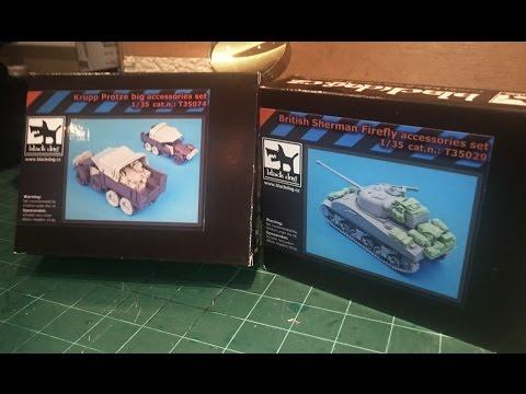 Blackdog Sherman Firefly and Krupp Protze Stowage sets