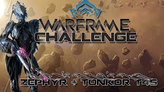 Challenge (Warframe) T4 Survival Zephyr + Tonkor with Tactical Potato & Disconnected Gamer - Part 1