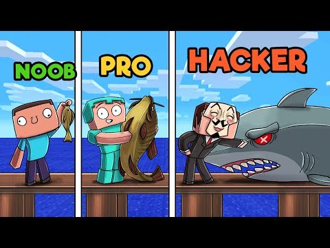 Minecraft - FISHING CHALLENGE! (NOOB vs PRO vs HACKER)
