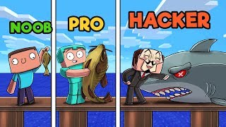 Minecraft - FISHING CHALLENGE! (NOOB vs PRO vs HACKER)