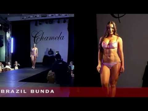 Chamela lingerie show - Brazil bikini ass