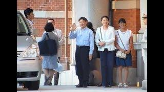 なんと皇太子さま旧型セレナの3列目シートに!! ご帰京の東京駅 The Crown Prince arrives at Tokyo Station
