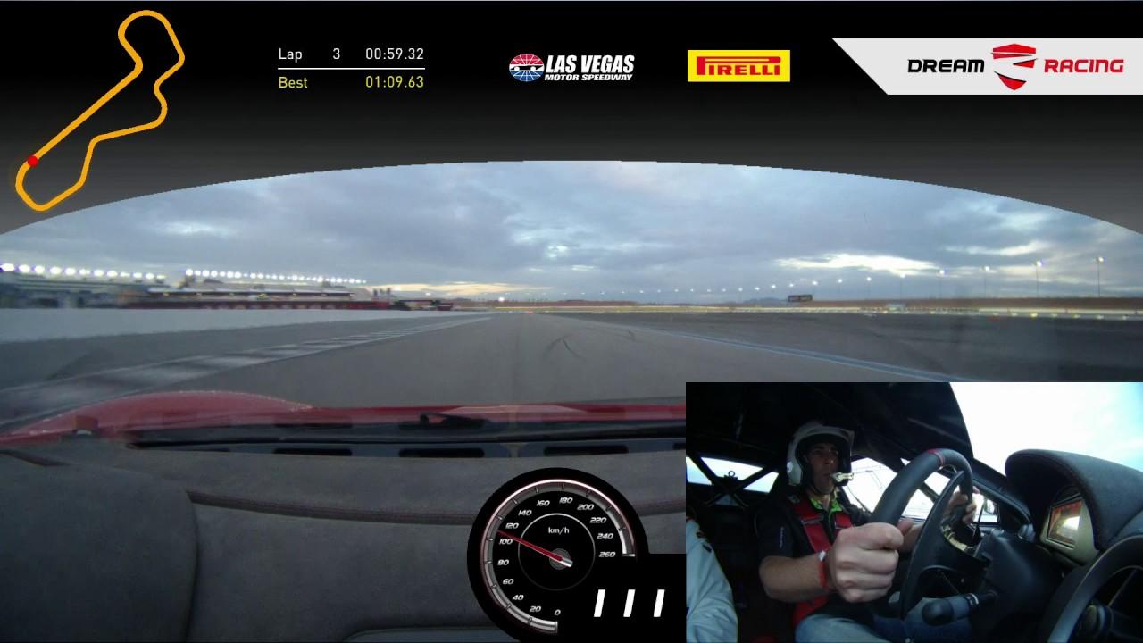 ferrari f430gt at las vegas speedway (infield) - youtube