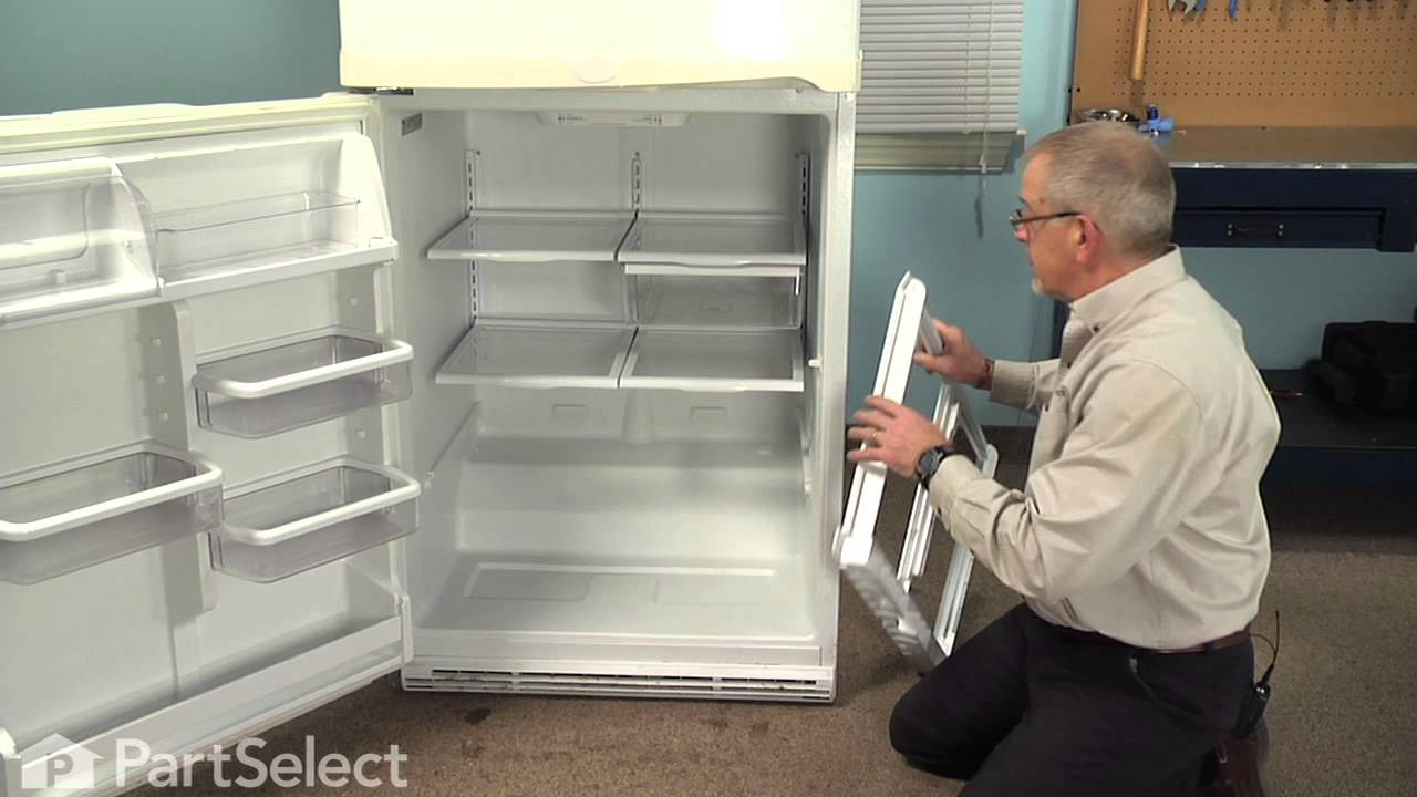 Whirlpool Refrigerator Repair >> Refrigerator Repair - Replacing the Crisper Cover Frame ...