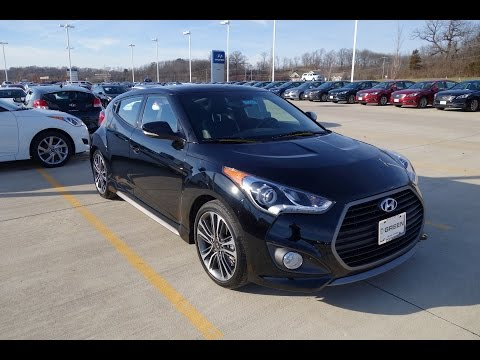 2016 2017 Hyundai Veloster Turbo 7 Speed DCT Walkaround Interior Tour