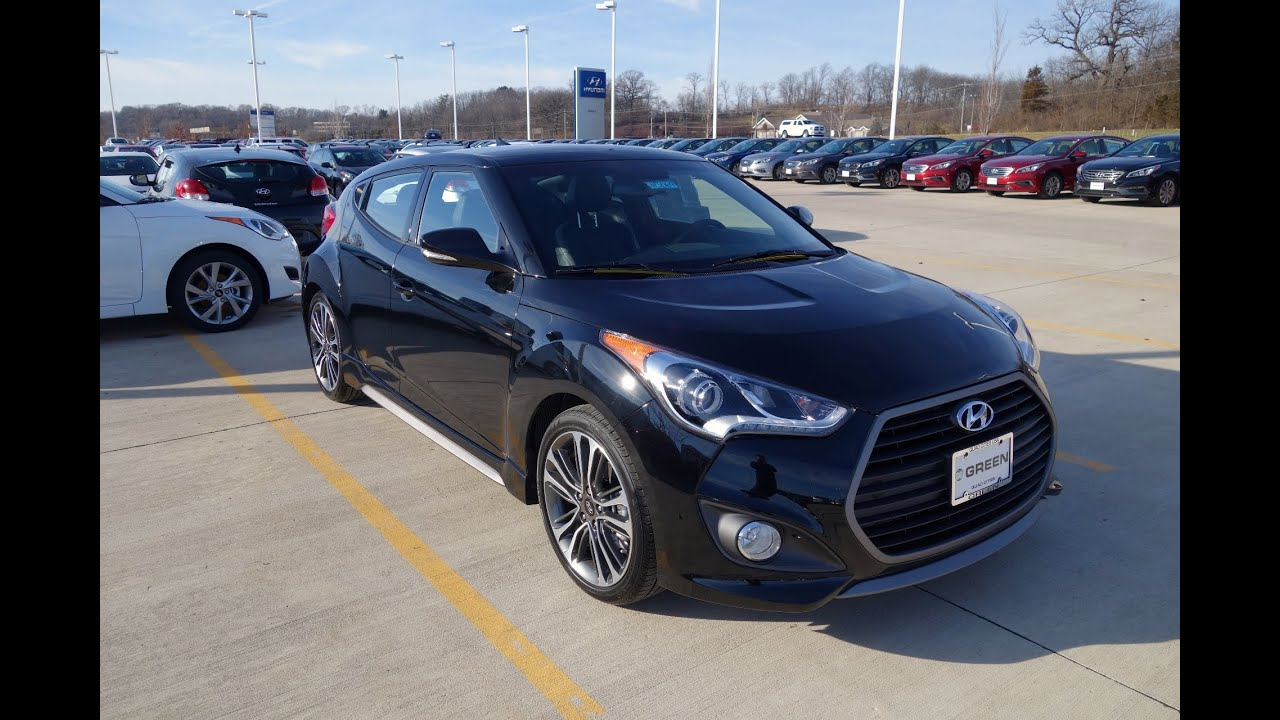 2016 2017 Hyundai Veloster Turbo 7 Speed Dct Walkaround