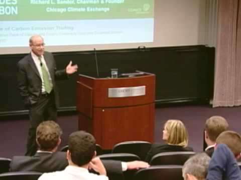 Founder of Chicago Climate Exchange Richard Sandor at Emory's Goizueta Business School