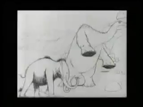 """""""Gertie The Dinosaur"""" 1914 Animated Film By Winsor McCay"""