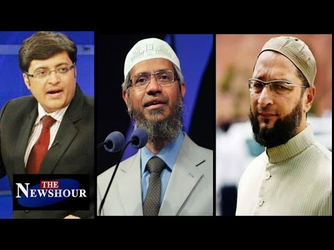 Asaduddin Owaisi BACKS Zakir Naik: The Newshour Debate (12th July 2016)