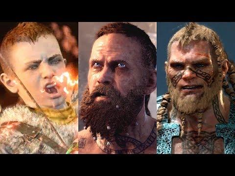 God Of War PS4 - All Bosses & Ending