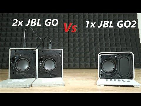 2x JBL Go vs x JBL Go 2 Bluetooth speaker test  [no grill]
