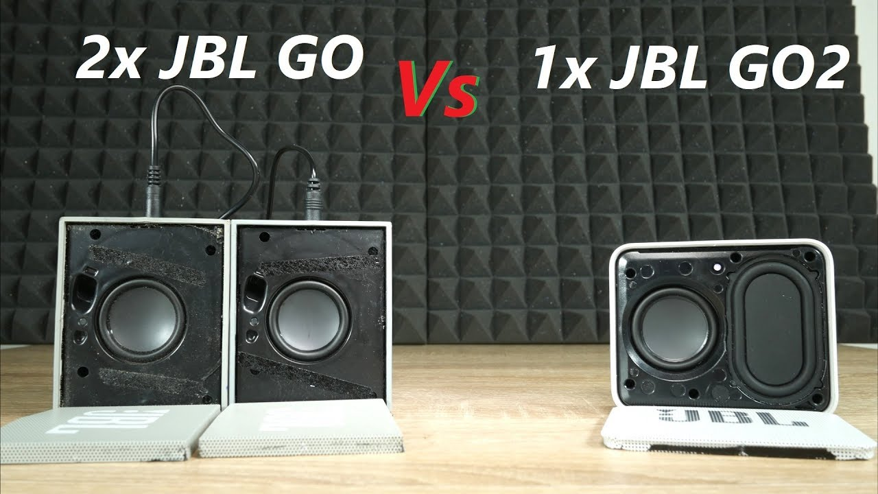 2x jbl go vs x jbl go 2 bluetooth speaker test no grill. Black Bedroom Furniture Sets. Home Design Ideas